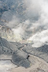 Close-up image of Tangkuban Perahu Crater
